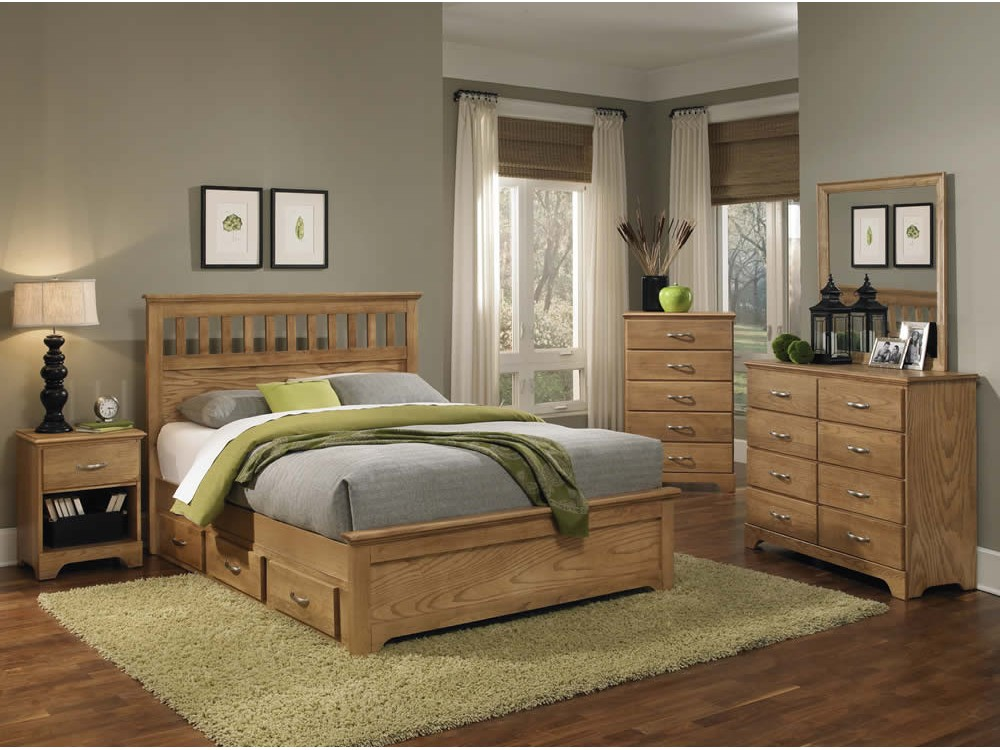 Sterling Oak Bedroom Collection. Carolina Furniture Works