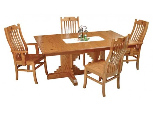 Delicieux Santa Rosa Double Pedestal Amish Made Dining Set. Holmes Country Amish  Furniture