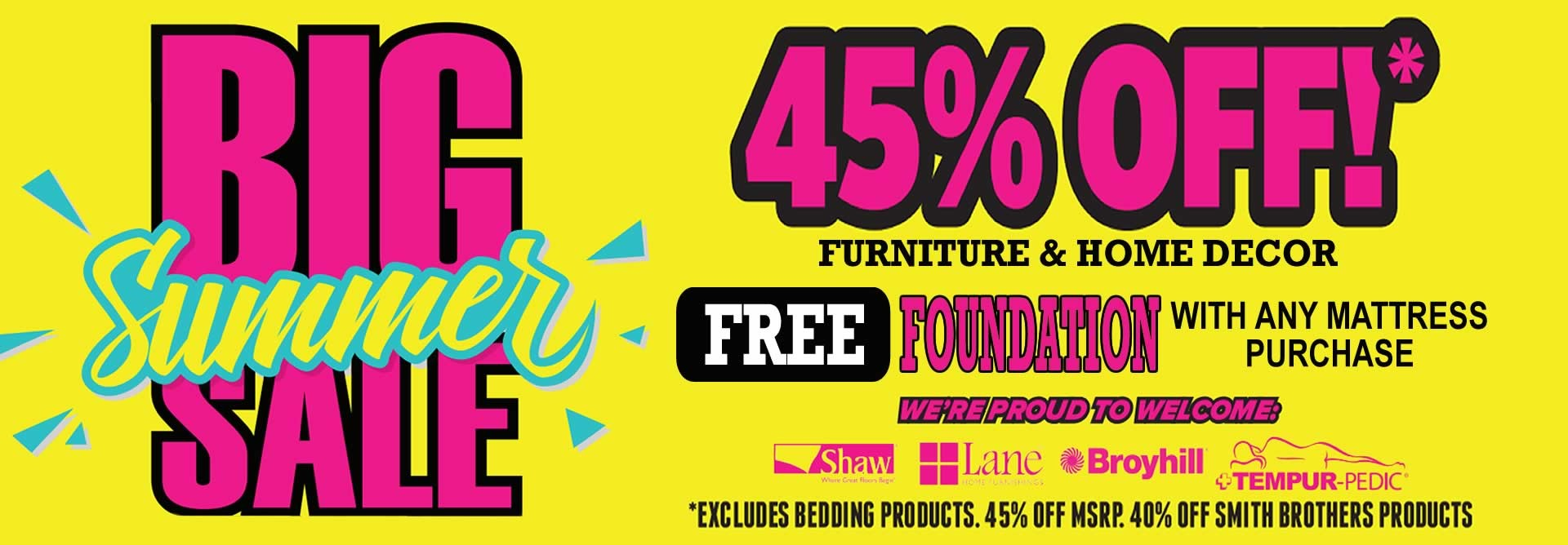 Big Summer Furniture Sale
