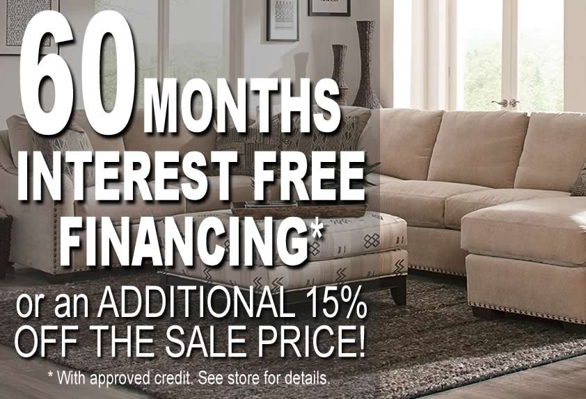 60 Months Interest FREE Financing*